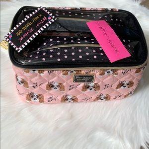 Betsey Johnson 3 piece travel case